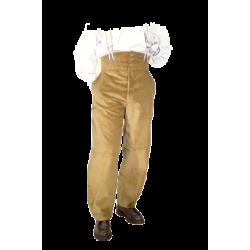 Pantalon LARGEOT à TIRANT - Noisette